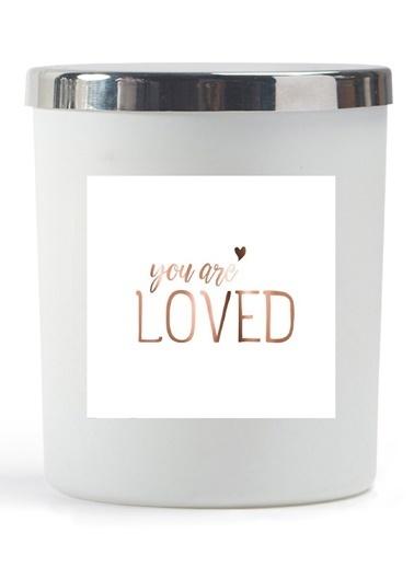 Lyn Home & Decor You Are Loved Beyaz Bardak Mum Beyaz